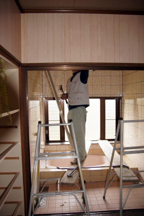 018 解体工事着工 浴室・洗面脱衣室