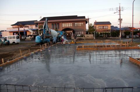 014 基礎コンクリート打設工事