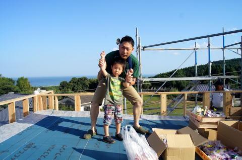 064 木工事 上棟式(2014.07.26)