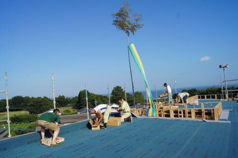 065 木工事 上棟式(2014.07.26)