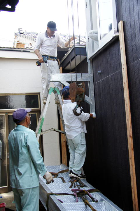 034 屋外階段設置工事