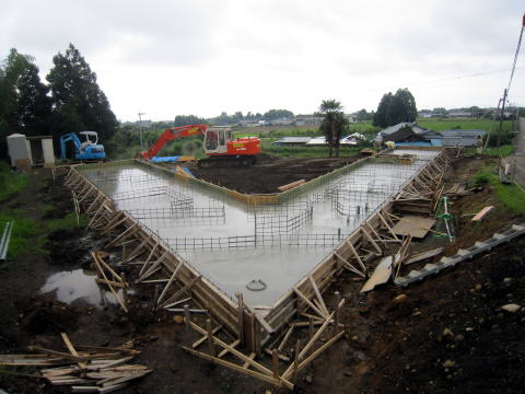 020 コンクリート打設完了 2011年6月8日