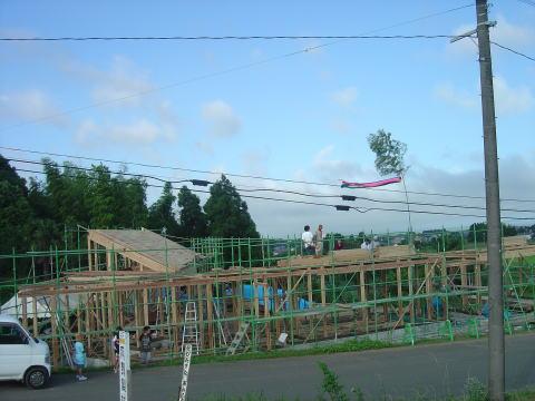 027 上棟式 2011年6月24日